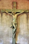 pic of crucifiction  - A statue of Jesus Christ crucified on a cross - JPG