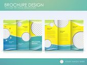 foto of newsletter  - Template of brochure design with spread pages - JPG