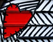 Heart Painted On Metal poster