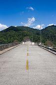 image of dam  - Wachiralongkorn Dam or Khao Laem Dam Kanchanaburi Thailand - JPG