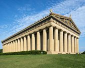 stock photo of parthenon  - Parthenon Replica at Centennial Park in Nashville - JPG