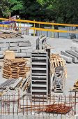 stock photo of formwork  - Concrete formwork and device on construction site - JPG