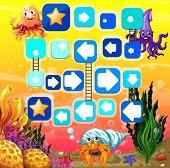image of game-fish  - Illustration of a board game with underwater background - JPG