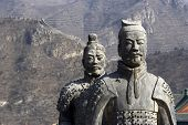 stock photo of qin dynasty  - Figures of Soldier and Clay in China - JPG