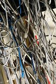picture of wiretap  - Insulated cords of network link in closeup - JPG