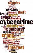 stock photo of cybercrime  - Cybercrime word cloud concept - JPG