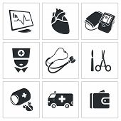 image of autopsy  - Heart Vector Isolated Flat Icons collection on a white background - JPG