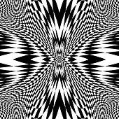 image of distortion  - Design monochrome movement illusion checkered background - JPG