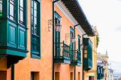 stock photo of bolivar  - Colonial house in Candelaria - JPG