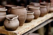 image of pottery  - Pottery traditional handmade souvenirs from crafts fair in Kernave Lithuania - JPG