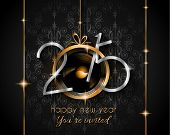 image of dinner invitation  - 2015 New Year and Happy Christmas background for your flyers - JPG