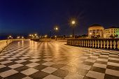 stock photo of bannister  - Mascagni Terrace at night - JPG