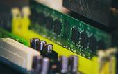 stock photo of ram  - close up on Installation of RAM on Computer  - JPG
