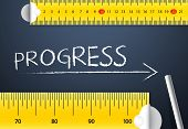 picture of proceed  - Measuring Progress or Improvement Concept - JPG