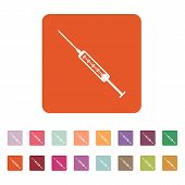 pic of syringe  - The syringe icon - JPG