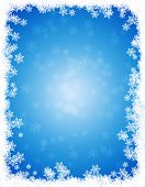 image of snow border  - Snow winter frame  - JPG