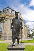 picture of petition  - Statue of Winston Churchill outside the Petit Palais near the Seine River Paris France - JPG