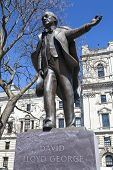 image of prime-minister  - A statue of former British Prime Minister David Lloyd George situated on Parliament Square in London - JPG