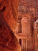 picture of petra jordan  - Al Khazneh or The Treasury at Petra Jordan - JPG