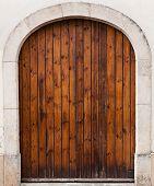 foto of wooden door  - Old wooden door outdoors entrance Vintage doors - JPG