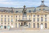 foto of bordeaux  - Beautiful Spring view of Fountain Place de la Bourse in Bordeaux - JPG