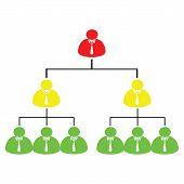 foto of human pyramid  - vector illustrasi of pyramid scheme with three colors - JPG