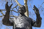 pic of prime-minister  - A statue of former South African President Nelson Mandela situated on Parliament Square in London - JPG