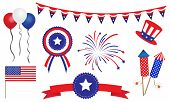 foto of veterans  - American United States 4th of July Badges Banner - JPG