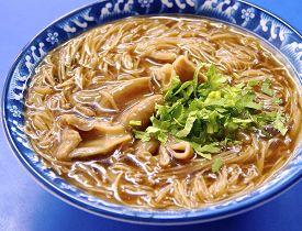 stock photo of intestines  - The pork intestine thin noodles in Taiwan - JPG