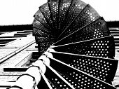 Outdoor Spiral Stairs Detail poster