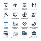 Business Insurance Icons - Blue Series poster