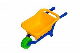 foto of dumper  - Toy 3 wheel 3 color small dumper - JPG