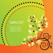 Постер, плакат: Вектор абстрактный цветочный фон Оранжевый