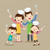 Cute Family Cooking poster