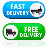 Fast and free delivery icons
