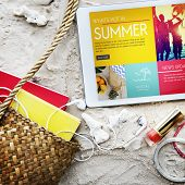 Summer Chill Collection Colorful Leisure Fresh Concept poster