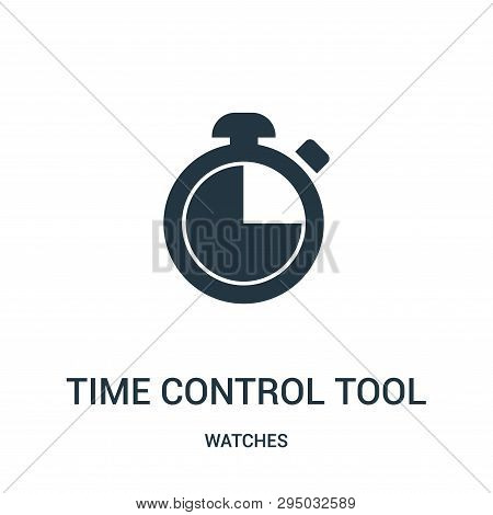 poster of Time Control Tool Icon Isolated On White Background From Watches Collection. Time Control Tool Icon