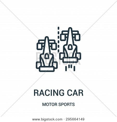 poster of Racing Car Icon Isolated On White Background From Motor Sports Collection. Racing Car Icon Trendy An