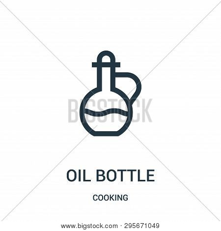 Oil Bottle Icon Isolated On
