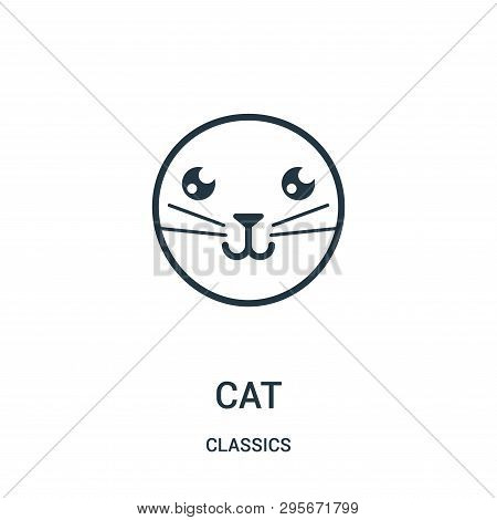 poster of Cat Icon Isolated On White Background From Classics Collection. Cat Icon Trendy And Modern Cat Symbo