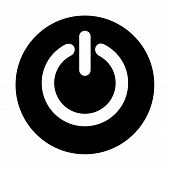 Power Button Icon Isolated On White Background. Power Button Icon Modern Symbol For Graphic And Web  poster