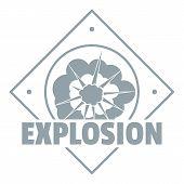 Explosion Logo. Simple Illustration Of Explosion Logo For Web poster