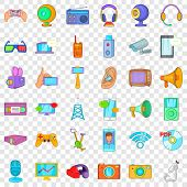 Electronic Device Icons Set. Cartoon Style Of 36 Electronic Device Vector Icons For Web For Any Desi poster
