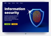 Website Providing The Service Of Information Security. Concept Of A Landing Page For Information Sec poster
