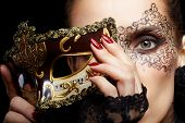 stock photo of venice carnival  - close - JPG