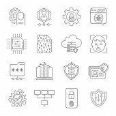 Modern Digital Technologies. Face Recognition, Fingerprint Scanner, Data Protection, Personal Securi poster