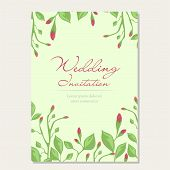 Wedding Invitation Vector Design Concept, Banner, Card, Poster. Floral Wedding Design Invitation Wit poster