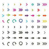 Arrows Set. Arrow Icon. Arrow Black Colored And Colorful. Vector Icon. Arrow. Arrows Vector Collecti poster