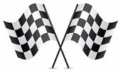 image of dragster  - vector illustration of racing flags on white background - JPG