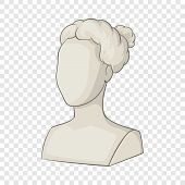 Sculpture Head Of Woman Icon. Cartoon Illustration Of Sculpture Head Of Woman Vector Icon For Web poster